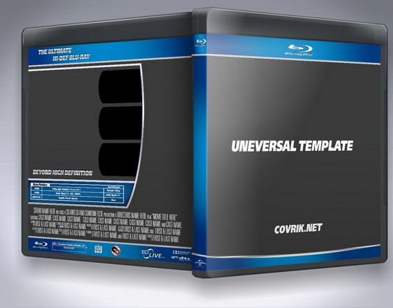 Universal Blu Ray Template dvd label